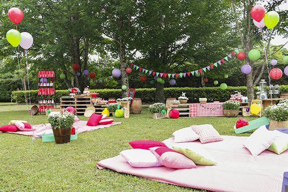decoração ao ar livre