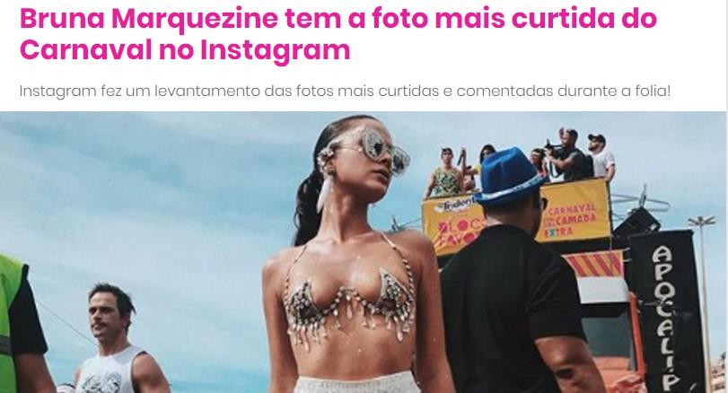 bruna marquezine 2018 foto mais curtida instagram