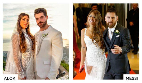 Casamento do DJ Alok e casamento do jogador de futebol Messi