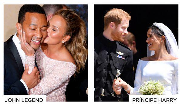 Casamento John Legend e Casamento Príncipe Harry