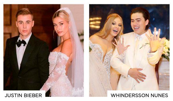 Casamento Justin Bieber e casamento Whindersson Nunes