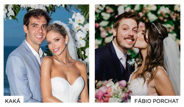 Casamento Kaká e casamento Fábio Porchat